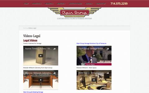 Screenshot of Terms Page olpingroup.com - Legal Videos  | Olpin Group - captured June 12, 2017