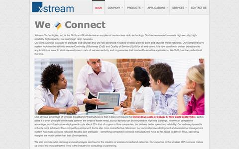 Screenshot of Home Page xstreamus.com - Clarion - February 2012 Template Demo - captured Oct. 1, 2014