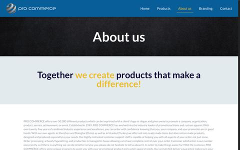 Screenshot of About Page procommerce.si - About us | Pro Commerce - captured July 5, 2018
