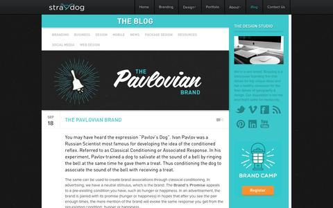 Screenshot of Blog straydogbranding.com - Vancouver Branding & Web Design / Straydog™ / Graphic Design Firm, Responsive Web Design, Package Design – Straydog Branding Vancouver - captured Oct. 1, 2014