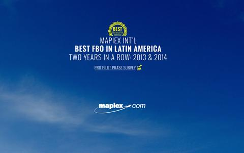 Screenshot of Home Page mapiex.com - Mapiex Internacional - captured Oct. 6, 2014