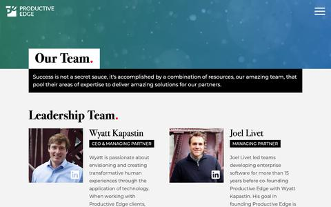Screenshot of Team Page productiveedge.com - Team | Productive Edge - captured Nov. 13, 2018