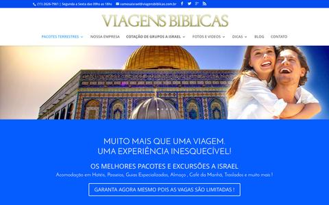 Screenshot of Home Page viagensbiblicas.com.br - Vamos a Terra Santa - Ag�ncia de Turismo e Operadora Viagens B�blicas - captured Jan. 12, 2016
