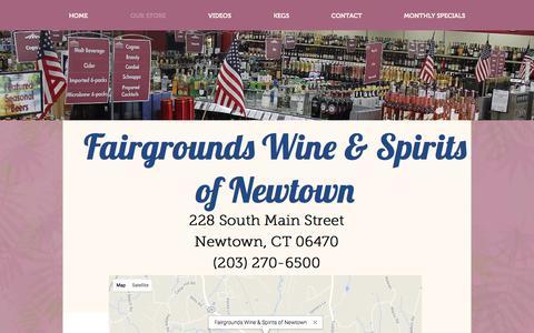 Screenshot of Hours Page fairgroundswineandspirits.com - Fairgrounds Locations - captured Oct. 13, 2017