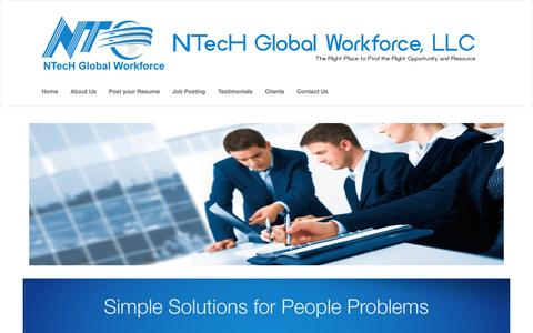 Screenshot of Home Page ntekglobal.com - NTecH Global Workforce, LLC - captured Aug. 15, 2016