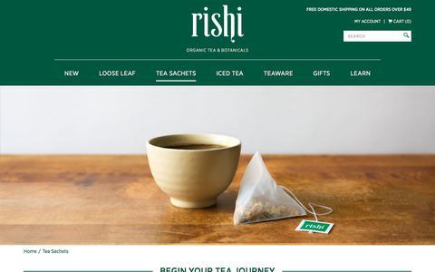 Organic & Free Trade Tea Bags  |  Rishi Tea