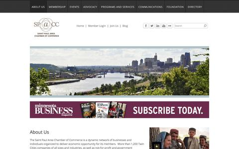 Screenshot of About Page saintpaulchamber.com - About Us | Saint Paul Area Chamber of Commerce - Saint Paul Area Chamber of Commerce - captured Oct. 4, 2017