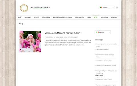 Screenshot of Blog studiomatozzorauti.it - Blog | Studio Matozzo Rauti – Psicologia e Naturopatia - captured Oct. 9, 2014