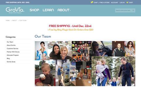 Screenshot of Team Page gro-via.com - Our Team - About | GroVia - captured Dec. 15, 2015