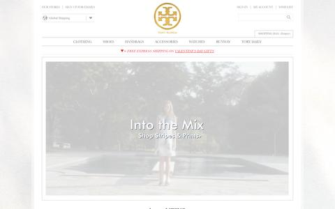Screenshot of Home Page toryburch.eu - Tory Burch | Women's Clothing, Dresses, Shoes, Handbags & Accessories - captured Feb. 6, 2015