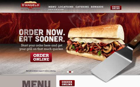 Screenshot of Menu Page dangelos.com - D'Angelo Grilled Sandwiches | Sandwiches, Wraps & Salads - captured Nov. 1, 2014