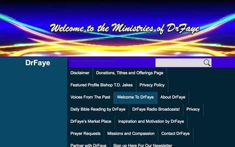 Screenshot of Home Page drfaye.com - DrFaye   DrFaye's Multi-Media Corporate Center - captured Oct. 5, 2014