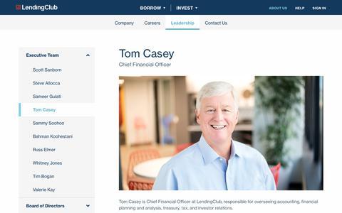 Screenshot of Team Page lendingclub.com - Leadership    | Save with LendingClub - captured June 27, 2018