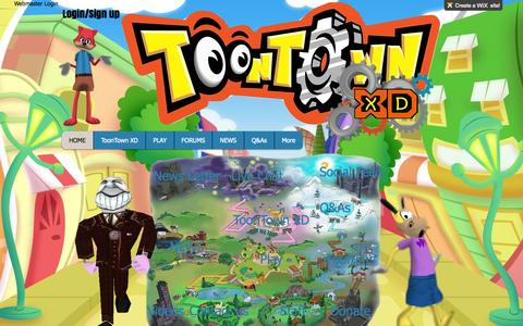 Screenshot of Home Page toontownxd.com - Toontown Journey - captured Sept. 25, 2014