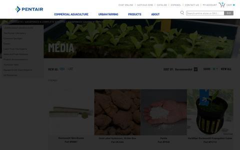 Screenshot of Press Page pentairaes.com - Aquaponics Growing Media | Pentair Aquatic Eco-Systems - captured Dec. 21, 2018