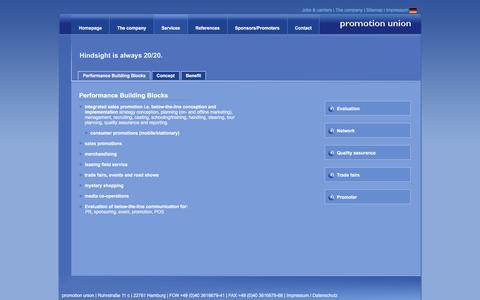 Screenshot of Services Page promotionunion.com - Promotion union - marketing promotion - promotion advertising - Sampling - event-promotion - captured April 12, 2016