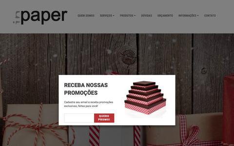 Screenshot of Home Page inpaper.com.br - Home | InPaper Embalagens - captured Dec. 19, 2018