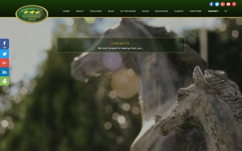 Screenshot of Contact Page summerhill.co.za - Contact — Summerhill Stud - captured Nov. 7, 2018