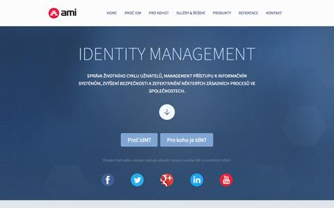 Screenshot of Home Page identity-management.cz - Jak na Identity Management | Identity Management AMI Praha - captured Sept. 11, 2015
