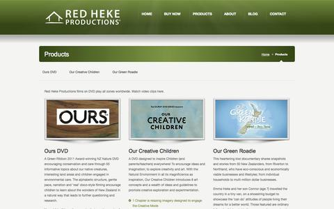 Screenshot of Products Page redheke.co.nz - Products - Red Heke Red Heke - captured Oct. 26, 2014