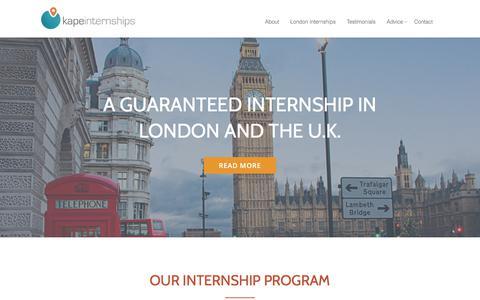 Screenshot of Home Page kapeinternships.com - Kape Internships – Guaranteed Internships in London and UK - captured June 9, 2017