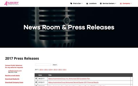 News Room & Press Releases | Asbury Automotive Group