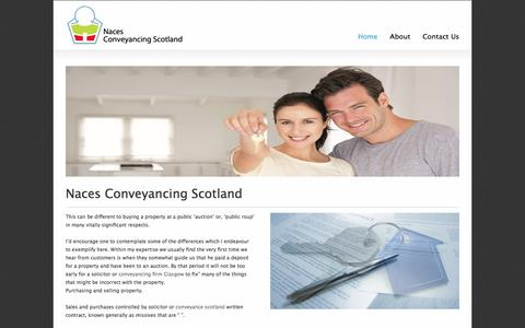 Screenshot of Home Page naces.co.uk - Conveyancing Scotland | Naces Conveyancing Scotland - captured Nov. 28, 2016