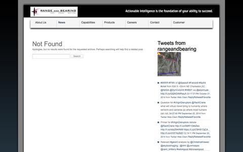 Screenshot of Press Page rangeandbearing.com - News - Range and Bearing :: Rapid Response ISR Solutions Range and Bearing :: Rapid Response ISR Solutions - captured Oct. 26, 2014