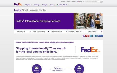 Screenshot of Services Page fedex.com - A Range of Services to Fit Your Export and Import Needs - captured Aug. 31, 2017