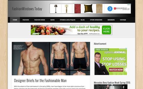 Screenshot of Home Page fashionwindows.com - FashionWindows Today - Your Window to Fashion - captured Sept. 23, 2014
