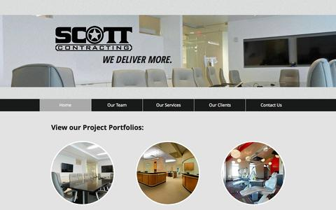 Screenshot of Home Page scott-contracting.com - scott-contracting - captured Jan. 23, 2015