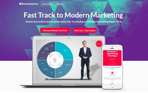 Screenshot of Landing Page econsultancy.com - Fast Track to Modern Marketing - captured Sept. 22, 2018