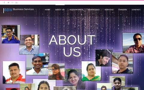 Screenshot of About Page bbw-services.com - About Us – BBW-Services - captured Sept. 27, 2018