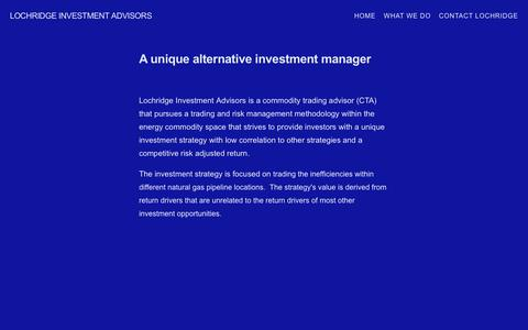 Screenshot of About Page lochridgecapital.com - What Lochridge Investment Advisors does — Lochridge Investment Advisors - captured Nov. 12, 2016