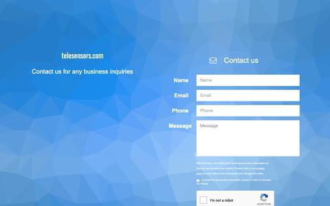 Screenshot of Home Page telesensors.com - telesensors.com - captured Oct. 20, 2018