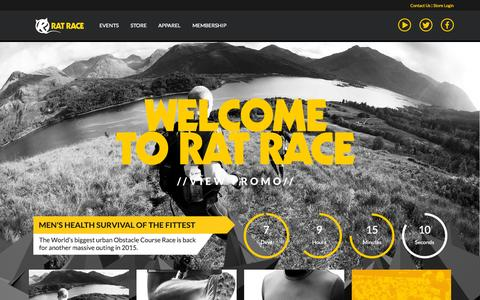 Screenshot of Home Page ratrace.com - Home - Rat Race Adventure Sports - captured Oct. 2, 2015