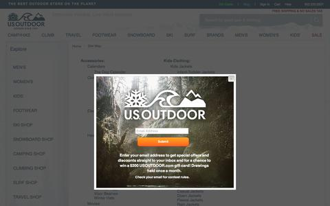 Screenshot of Site Map Page usoutdoor.com - Sitemap of Brands & Products for USOUTDOOR.com - captured Sept. 23, 2018
