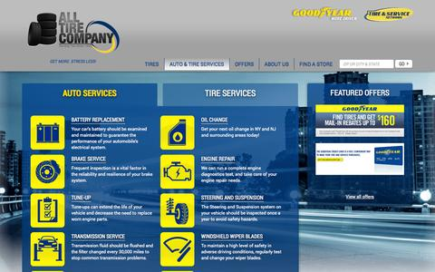 Screenshot of Services Page alltirecompany.com - Auto Repair Staten Island NY & Branchburg NJ | All Tire Company - captured Sept. 30, 2014
