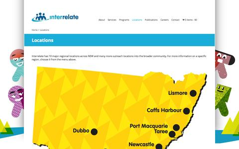 Screenshot of Locations Page interrelate.org.au - Locations « Interrelate - captured Oct. 6, 2014