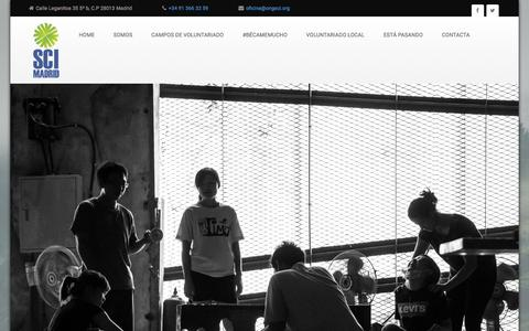 Screenshot of Blog ongsci.org - Servicio Civil Internacional - captured June 5, 2016