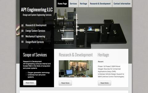 Screenshot of Home Page apiengr.com - Home Page - captured Feb. 4, 2016