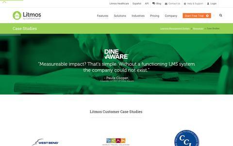 Screenshot of Case Studies Page litmos.com - Case Studies   Litmos Customer Stories   Learning Management Systems - captured Jan. 13, 2016