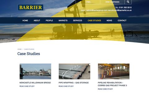 Screenshot of Case Studies Page barriergroup.com - Case Studies - Barrier Group - captured Sept. 30, 2014