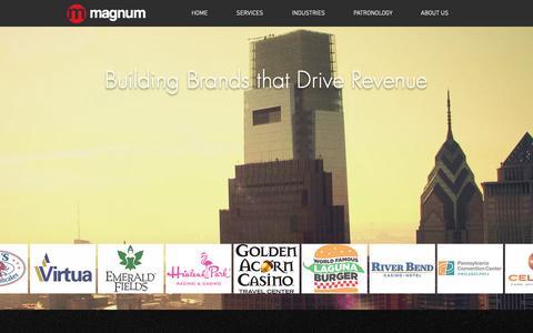 Screenshot of Home Page magnummark.com - Magnum Integrated Marketing | Home - captured Oct. 2, 2018