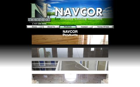 Screenshot of Products Page navcor.us - NAVCOR's Specially Formulated Products - captured Oct. 26, 2014