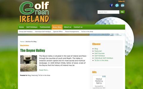 Screenshot of Blog golfgreenireland.com - Golf Green Ireland Blog - captured Oct. 27, 2014