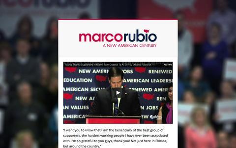 Screenshot of Home Page marcorubio.com - Home - Marco Rubio - captured April 9, 2016