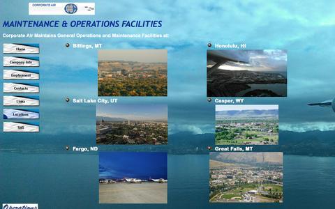 Screenshot of Locations Page corporateair.net - Locations - captured Nov. 12, 2016