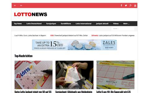 Screenshot of Home Page lotto-news.de - Lotto News - Nachrichten - captured Dec. 5, 2016
