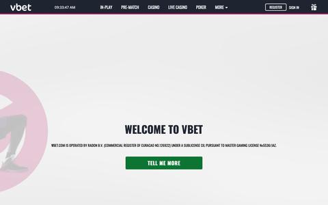 Screenshot of About Page vbet.com - Vbet   About Us - captured Feb. 13, 2019